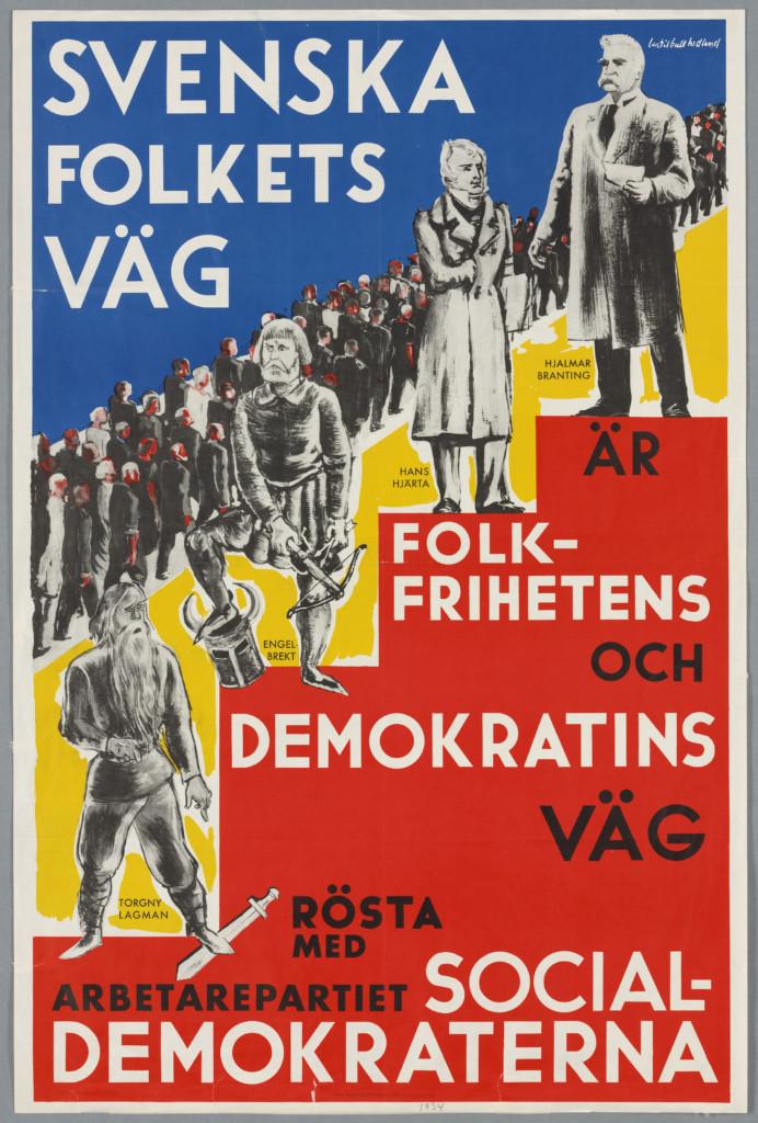 Valaffisch från arbetarrörelsens arkiv