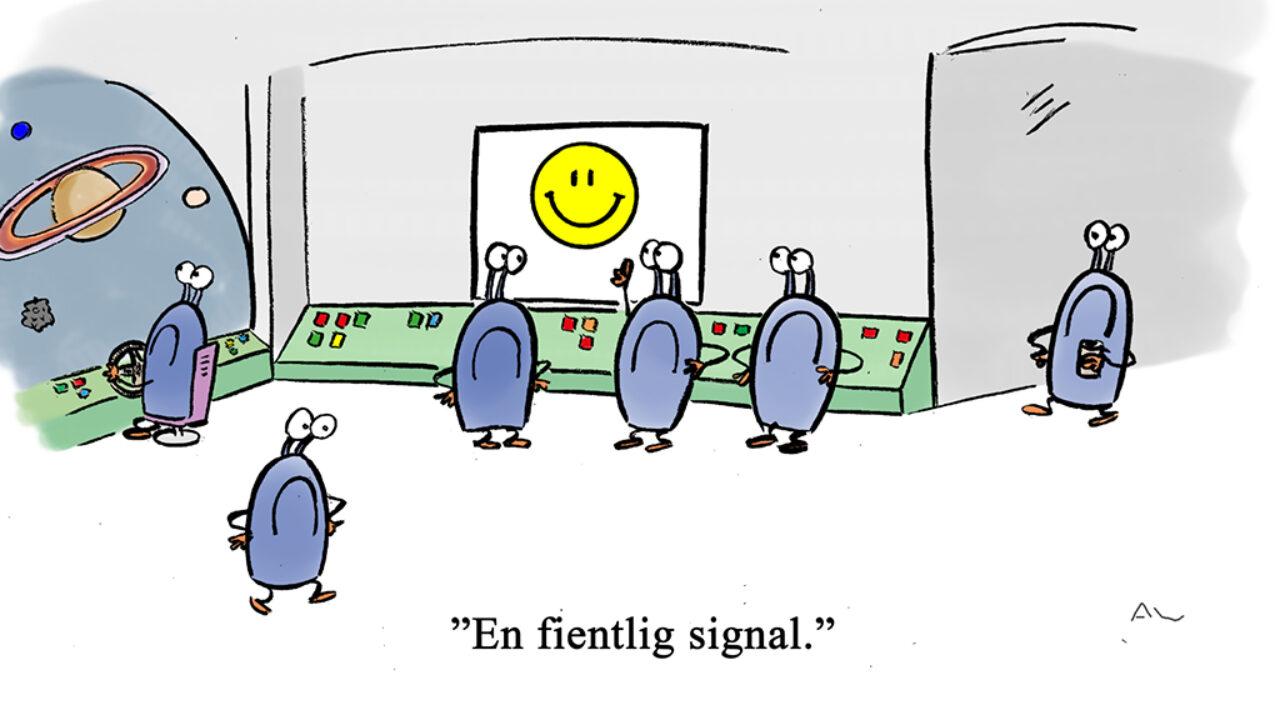 Fientlig signal. Illustration: André Wong