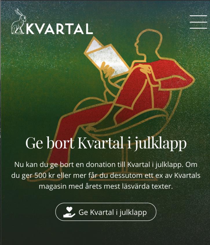 Ge bort Kvartal i Julklapp