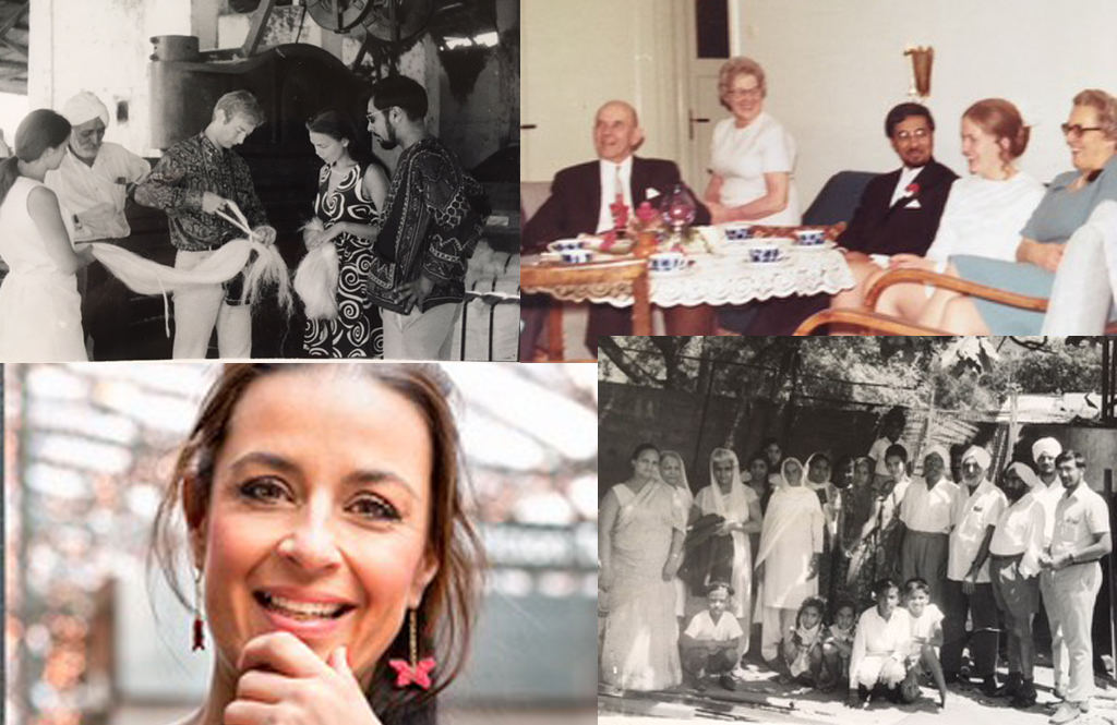 Foto från familjen i Sverige, på besök i Indien och av Ulrika Nandar själv. Foto: privat.