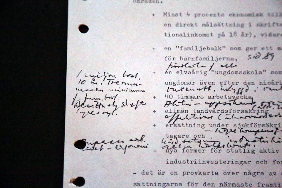 Ernst Michaneks första anteckningar om det som skulle bli