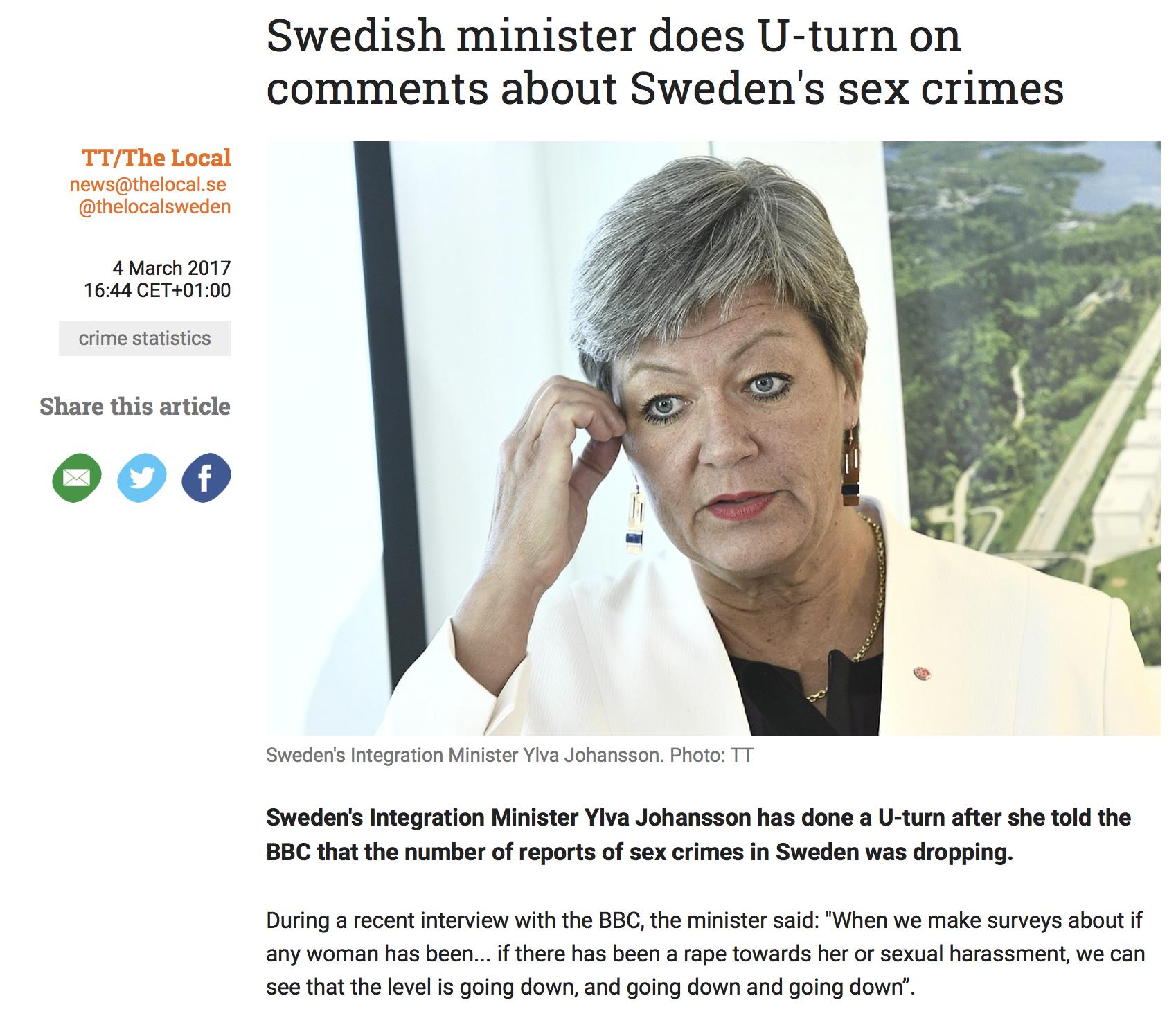 Omsorg om Sverigebilden.